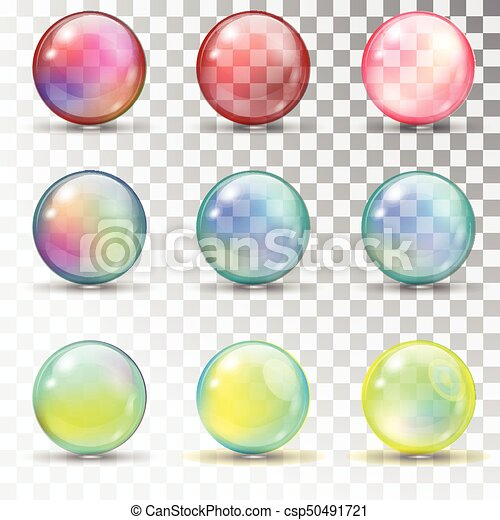 Transparent colored balls with overflow. - csp50491721