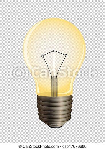 transparent, fond, lightbulb - csp47676688