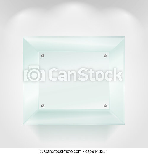 Transparent glass showcase - csp9148251