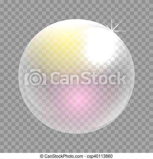 Transparent soap bubble vector clip art. - csp40113860