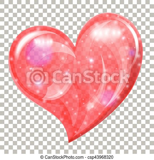Transparent Valentines Day Heart Heart On Valentines Day On