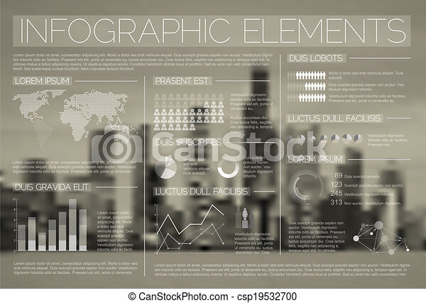 Transparent Vector set of Infographic elements - csp19532700