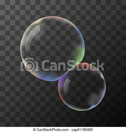 Transparent vector soap bubbles - csp41195405