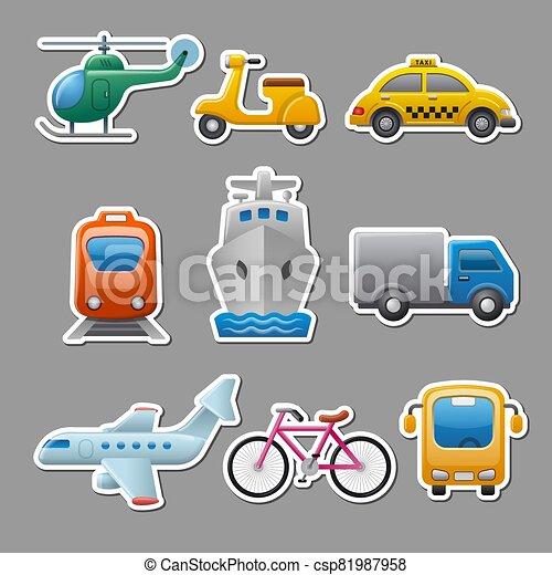 transport, autocollants - csp81987958