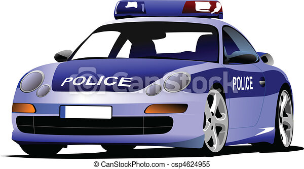 transport., c, 市の, 車。, 警察 - csp4624955