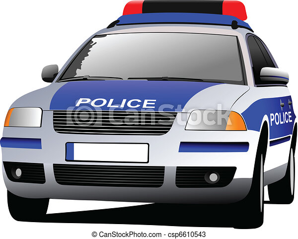 transport., c, 市の, 車。, 警察 - csp6610543