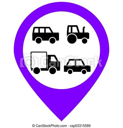 Transport cars icons set. Vector illustration. - csp53315589
