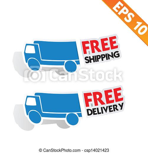 transport, -, gratuite, livraison, vecteur, illustration, logistique, eps10, publicité - csp14021423