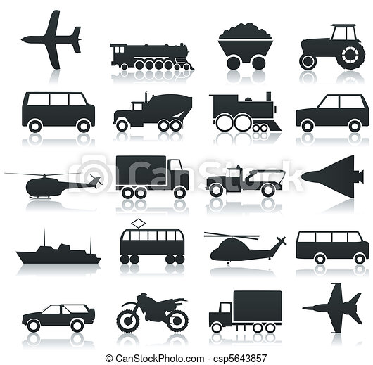 Transport icons - csp5643857