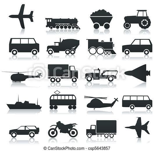 transport, ikonen - csp5643857