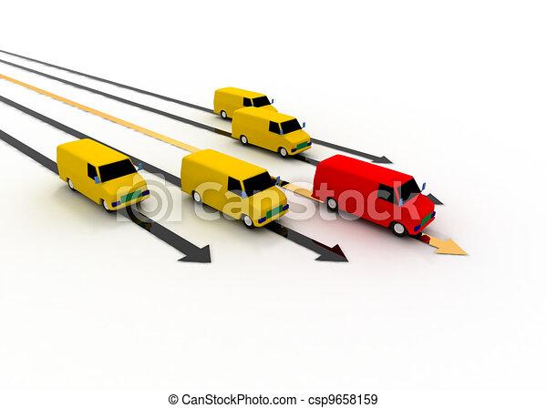 transport leader concept - csp9658159