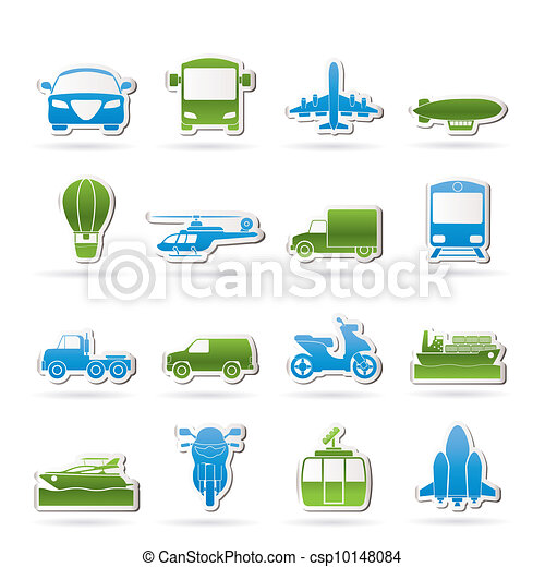 Transportation and travel icons - csp10148084
