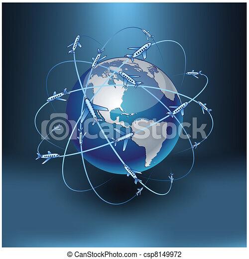 Transportation Earth - America. - csp8149972