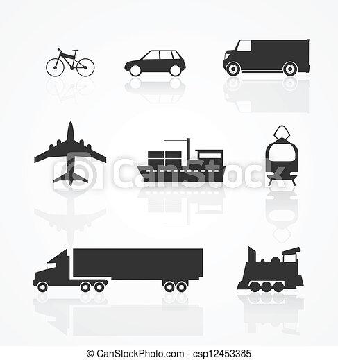 Transportation icon - csp12453385