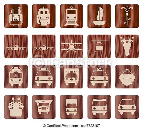 transportation icon set - csp7723107