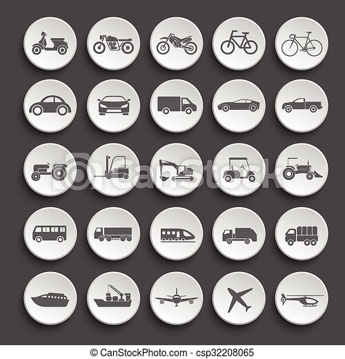 Transportation icon set. vector - csp32208065