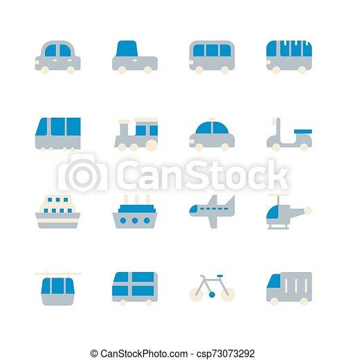Transportation icon set. Vector illustration - csp73073292