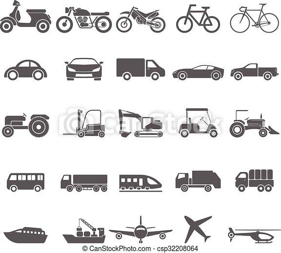 Transportation icon set.vector - csp32208064
