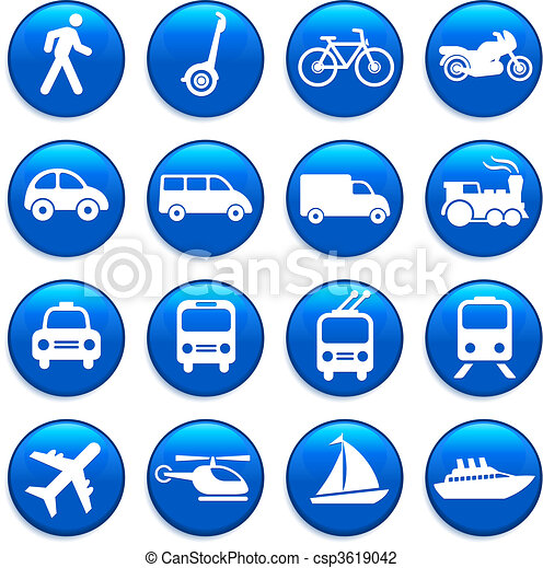 Transportation icons design elements - csp3619042