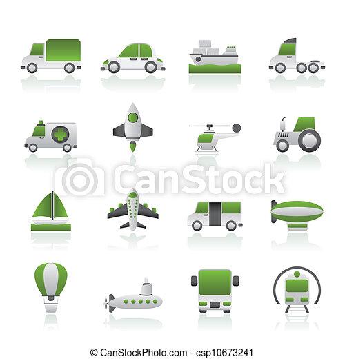 transportation icons - csp10673241