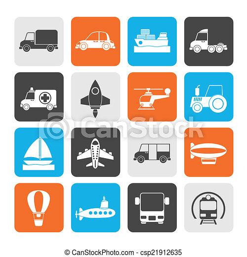 transportation icons - csp21912635