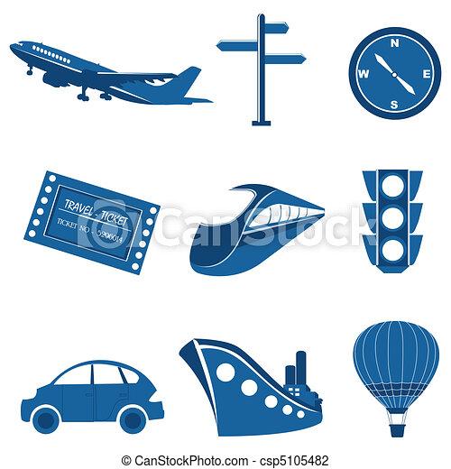 transportation icons - csp5105482