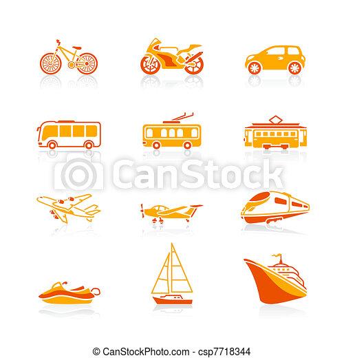 Transportation icons | JUICY series - csp7718344
