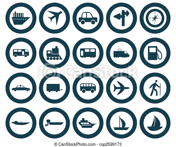 transportation icons set - csp2599173