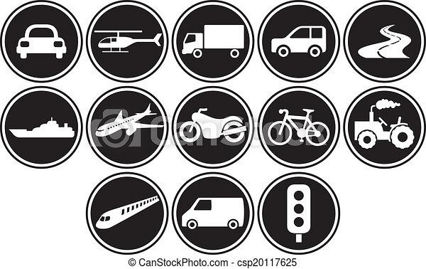 transportation icons set - csp20117625