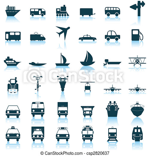 transportation icons set - csp2820637