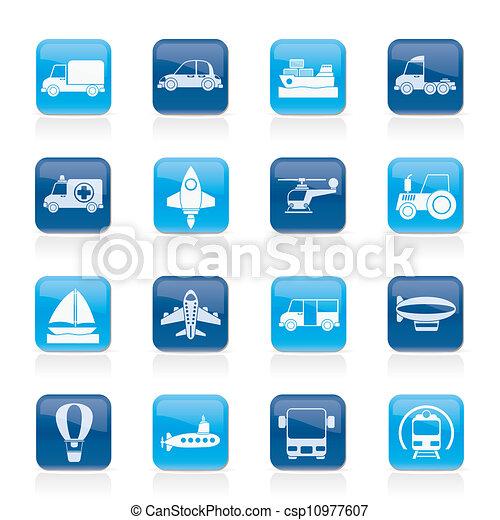 transportation icons - csp10977607