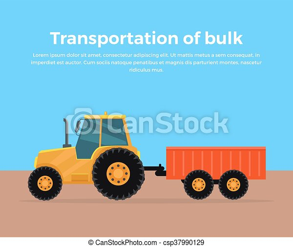 Transportation of Bulk Banner Design - csp37990129