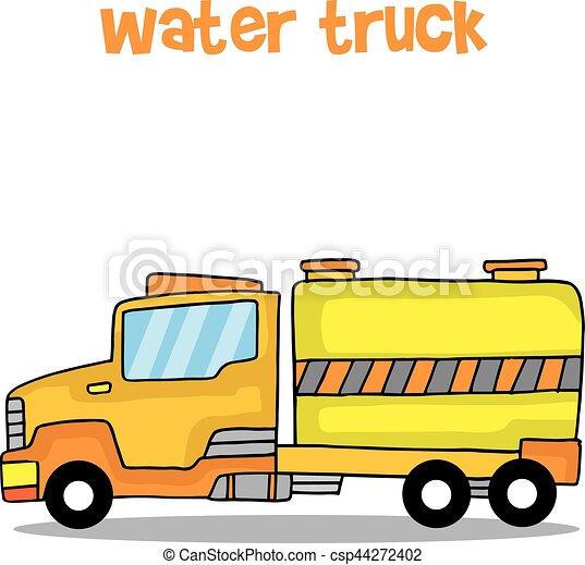 transportation of water truck vector art collection stock vector rh canstockphoto com truck vector art vector truck
