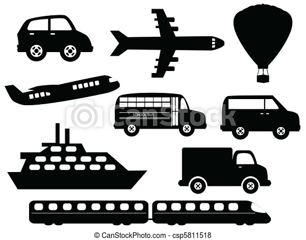 Transportation symbols - csp5811518