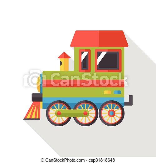 transportation train flat icon - csp31818648
