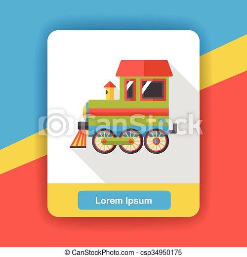 transportation train flat icon - csp34950175