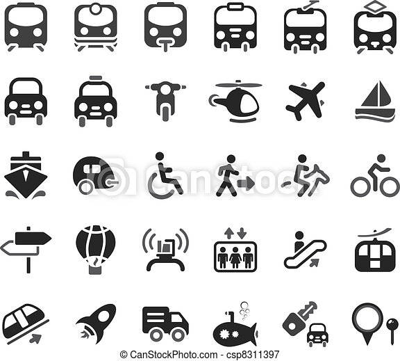 Transportation Vector Icons - csp8311397