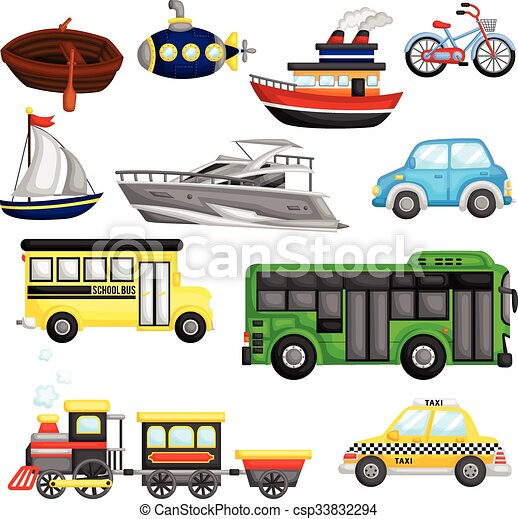 Transportation Vector Set - csp33832294