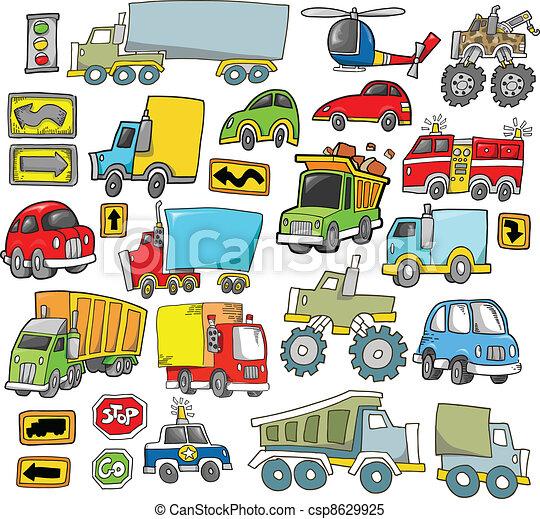 Transportation Vehicle Vector set - csp8629925