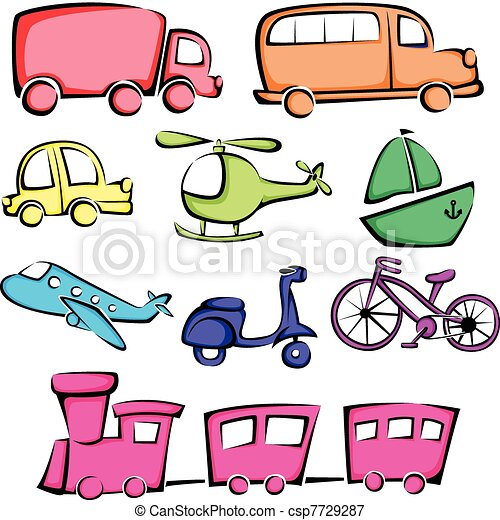 Transportation vehicles icons - csp7729287