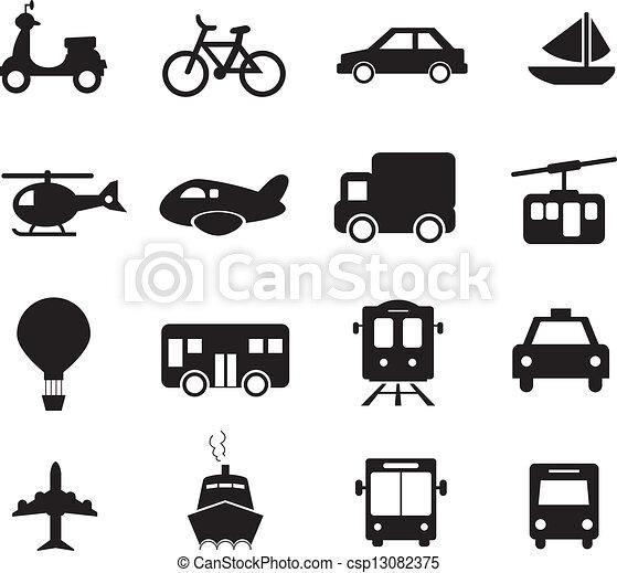 transporte, ícone - csp13082375
