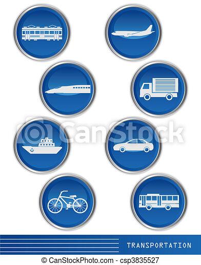 transporte, ícone - csp3835527