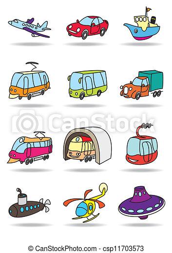 transporte, ícone, jogo - csp11703573