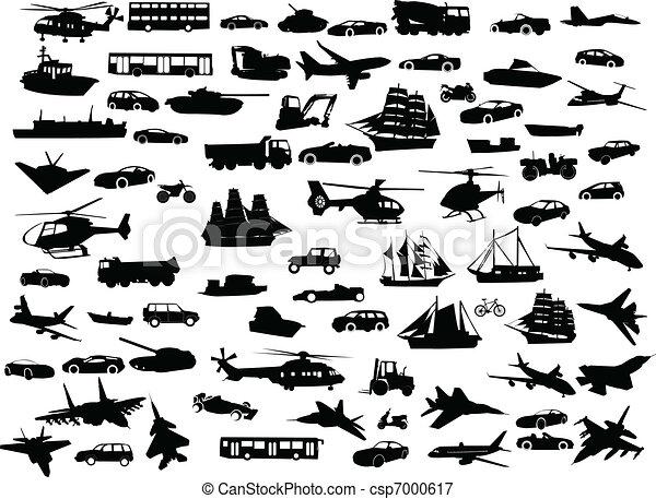 transporte, colección - csp7000617