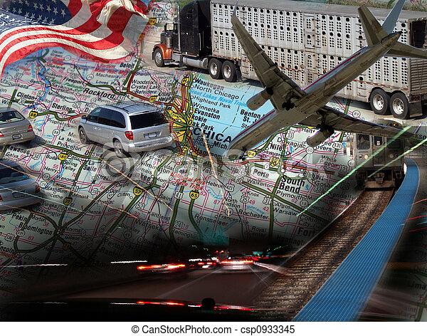 transporte, diseño - csp0933345