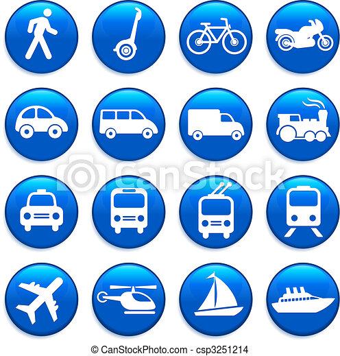 transporte, elementos, desenho, ícones - csp3251214