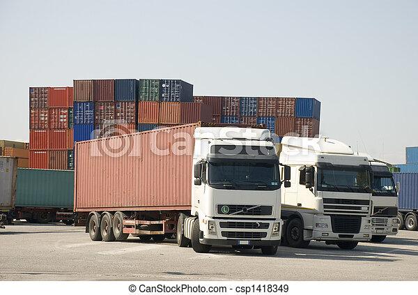 transporte, frete - csp1418349