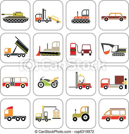 transporte, iconos - csp6319972