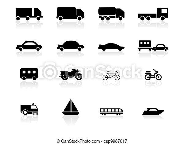 iconos de transporte - csp9987617