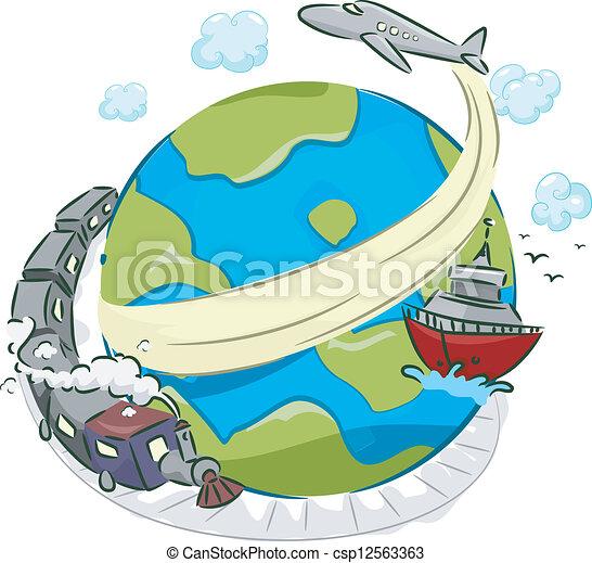 transporte, modos - csp12563363
